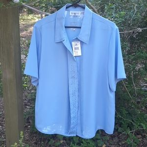 JUST IN Boscovs powder blue classy blouse